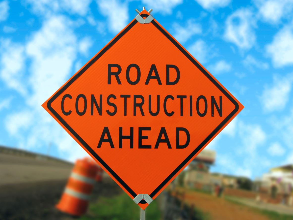 iStock Road Construction Ahead Sign