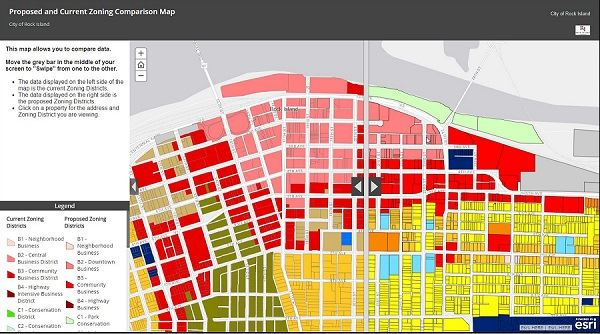 Proposed Zoning Comparison Map