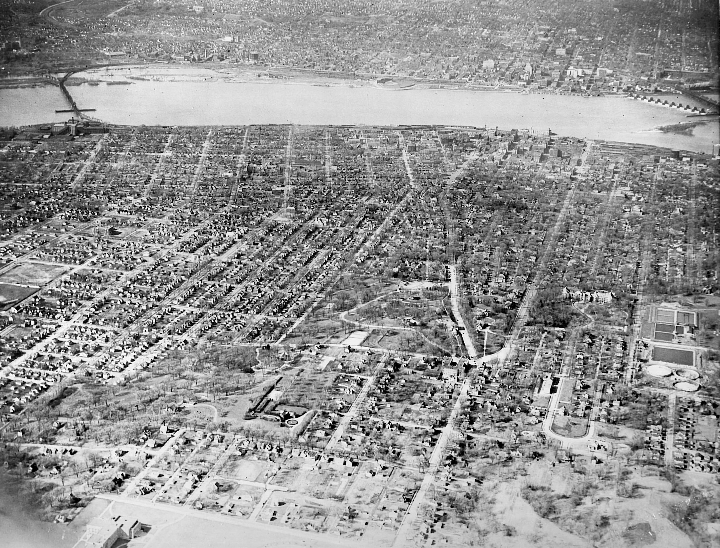 Aerial view prior to 1939